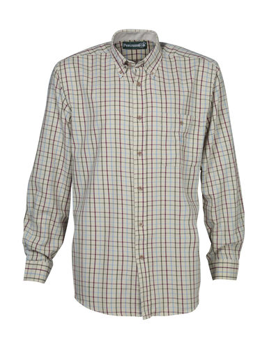 2017 Model - Checked Shirt - Ecru/Blue image #1