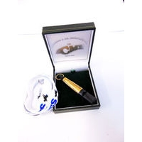 Acme 210 Sterling Silver Gold Plated Whistle Sleeve Whistle