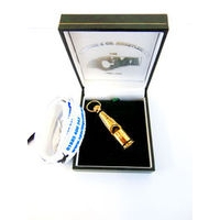 212 Sterling Silver Gold Plated Whistle