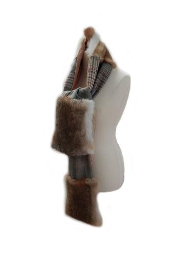 Tweed & Wild Fur Full Length Scarf image #1