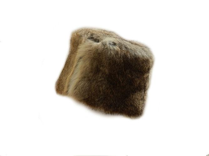 Wild Fur Pillbox Hat image #1