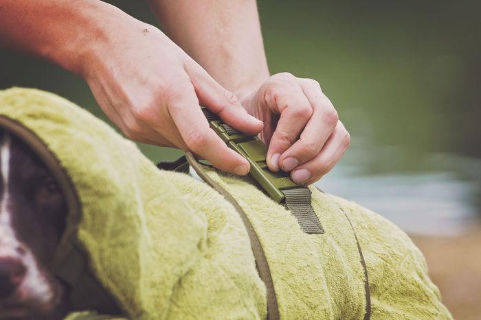 SICCARO Supreme Pro Dog Drying Robe - Olive image #10