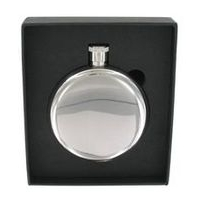 Round Stainless Steel Hip Flask 5oz